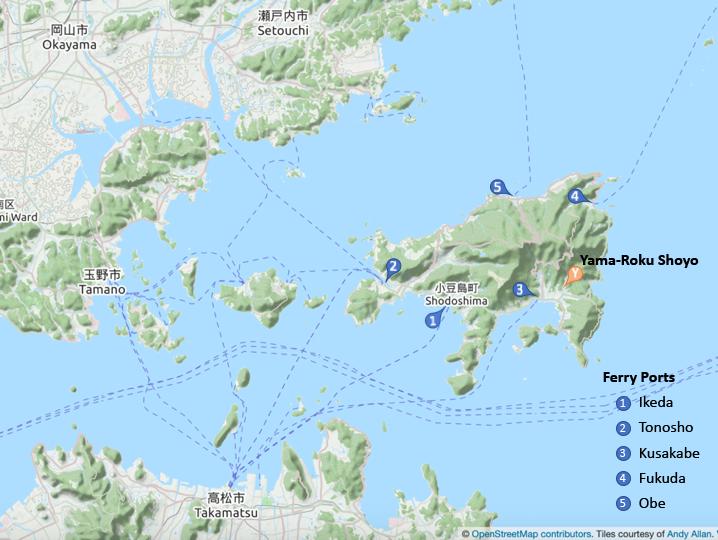 Shodoshima Map
