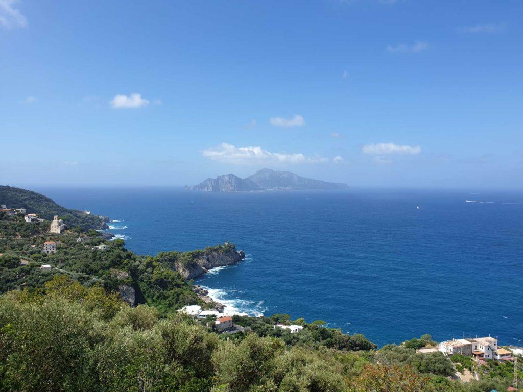 Capri view from L'Annunziata